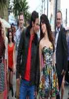 Humshakals Saif Ali Khan Red T-Shirt And Tamannaah Bhatia Short Skirt Stills