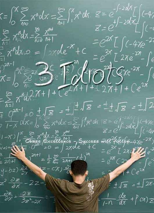 3 Idiots Aamir khan Poster