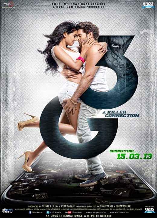 3G (2013) Neil Nitin Mukesh Sonal Chauhan Poster