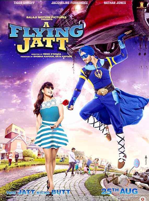 A Flying Jatt Jacqueline Fernandez Tiger Shroff Poster