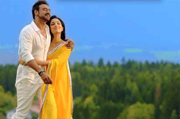 Action Jackson Ajay Devgn White Dress Yami Gautam Yellow Saree Stills