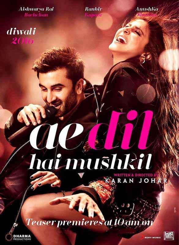 Ae Dil Hai Mushkil Ranbir Kapoor Anushka Sharma Poster