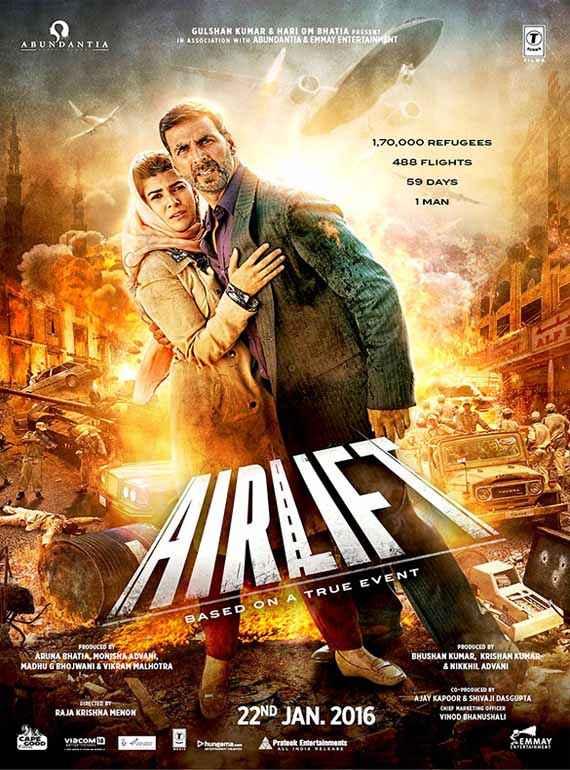 Airlift Nimrat Akshay Poster