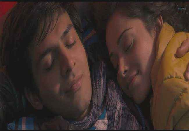 Akaash Vani Kartik Tiwari Nushrat Bharucha in Sleeping Mood Stills