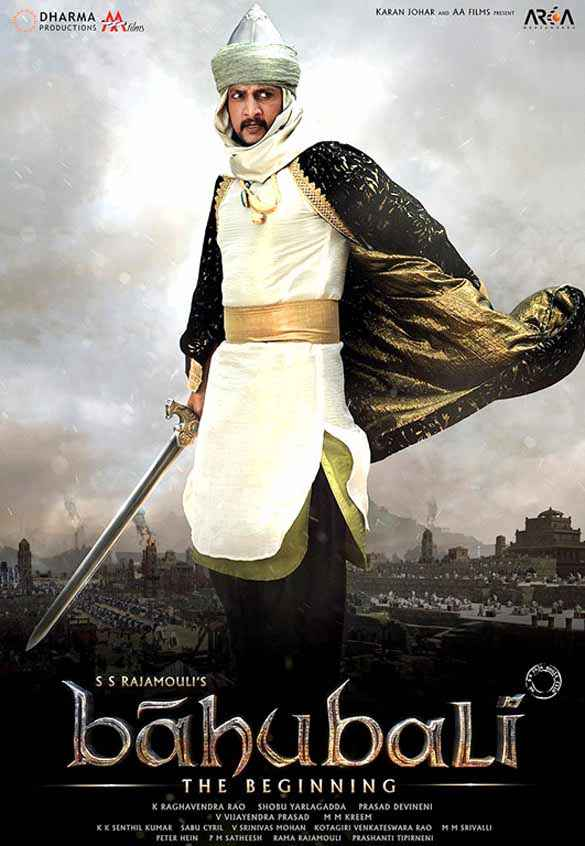 Bahubali : The Beginning Sudeep Poster