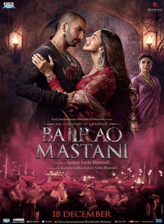 Bajirao Mastani Ranveer Singh Deepika Padukone Romantic Poster
