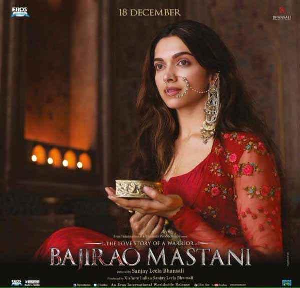 Bajirao Mastani Deepika Padukone In Red Dress Stills