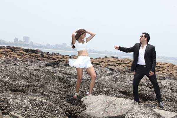Balwinder Singh Famous Ho Gaya Gabriela Bertante White Short Dress And Mika Singh Stills