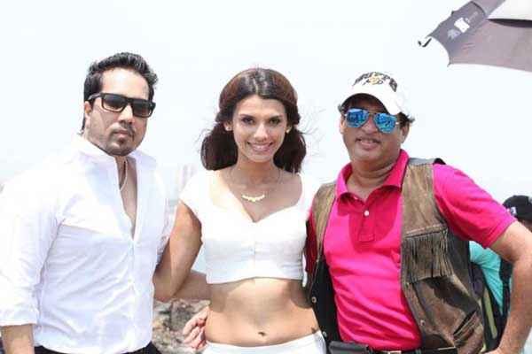 Balwinder Singh Famous Ho Gaya Mika Singh Gabriela Bertante White Dress Stills