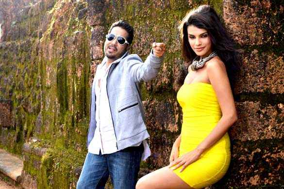 Balwinder Singh Famous Ho Gaya Mika Singh Gabriela Bertante Yellow Dress Romantic Scene Stills