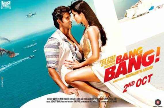 Bang Bang Hrithik Roshan Katrina Kaif HD Poster