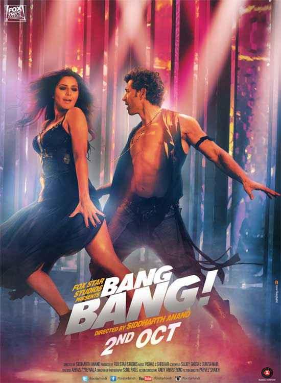 Bang Bang Hrithik Roshan Katrina Kaif Wallpaper Poster