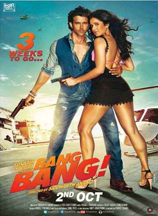 Bang Bang Hrithik Roshan Katrina Kaif Poster