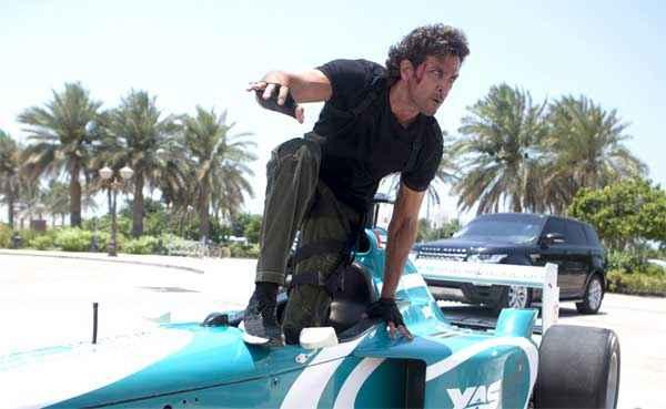 Bang Bang Hrithik Roshan Stunts On Racing Car Stills