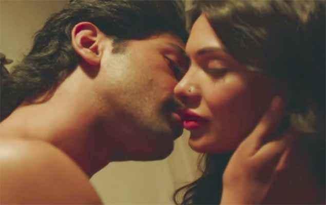 Barkhaa Taaha Shah Sara Loren Kissing Scene Stills