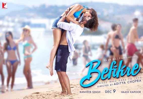 Befikre Ranveer Singh Vaani Kapoor Hot Kiss Poster