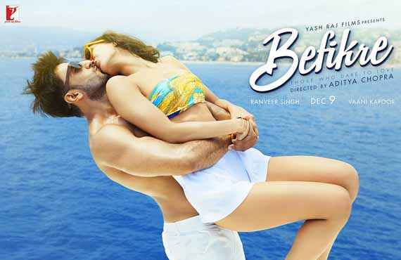 Befikre Ranveer Singh Vaani Kapoor Hot Kissing Wallpaper Poster
