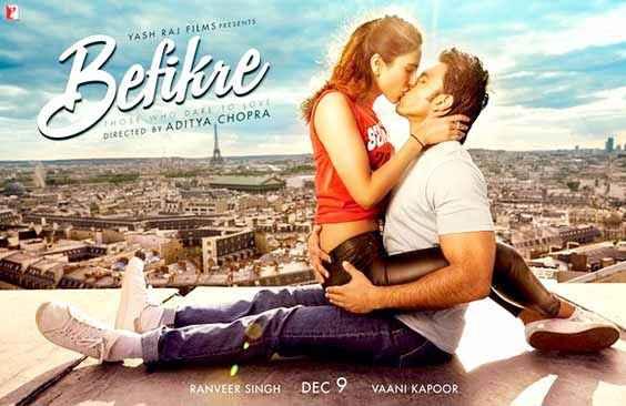 Befikre Ranveer Singh Vaani Kapoor Kissing Poster