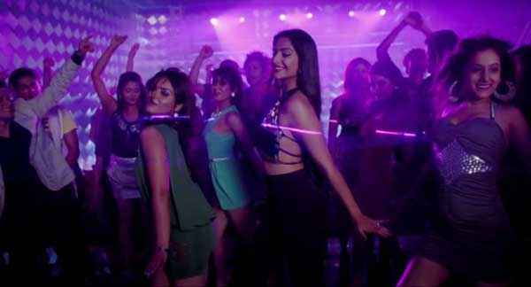 Bewakoofiyaan Sonam Kapoor Sexy Black Dress Stills