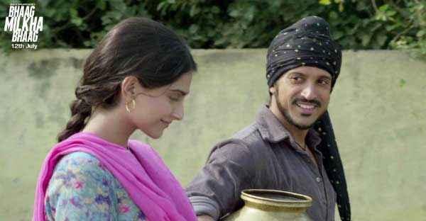 Bhaag Milkha Bhaag Farhan Akhtar Sonam Kapoor Romantic Scene Stills