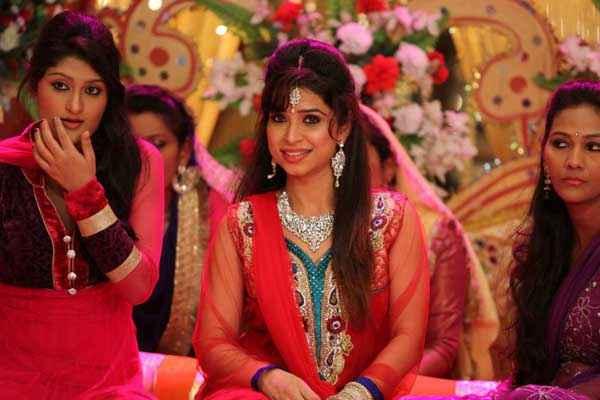 Black Home Simran Sehmi Marriage Red Dress Stills