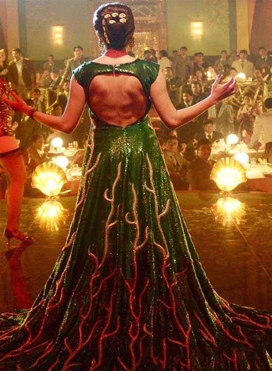 Bombay Velvet Anushka Sharma Open Back Sexy Dress Stills
