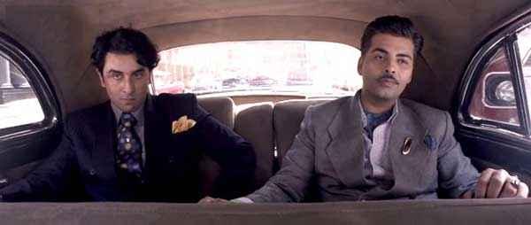 Bombay Velvet Ranbir Kapoor Karan Johar In Car Stills