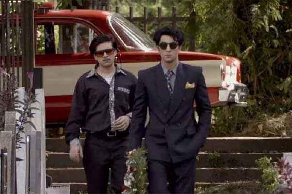 Bombay Velvet Ranbir Kapoor Karan Johar With Goggle Stills