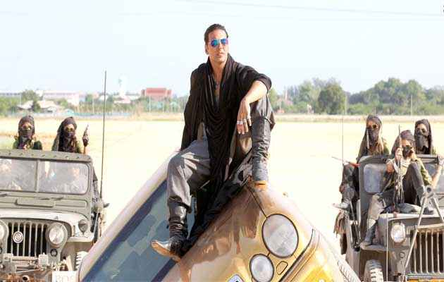 Boss Akshay Kumar With Car Action Stills