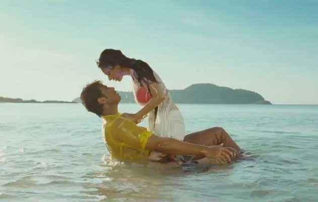 Boss Shiv Pandit Aditi Rao Hydari Red Bikini Hot Scene at Beach Stills