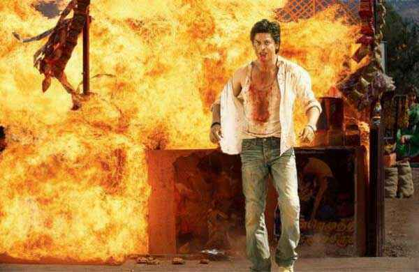 Chennai Express Shahrukh Khan Action Photo Stills