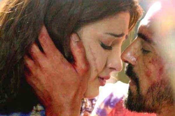 D Day Arjun Rampal Shruti Haasan Kissing Stills