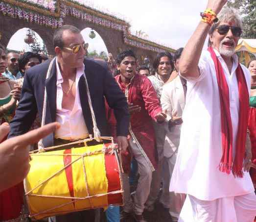 Department Amitabh Bachchan and Sanjay Dutt Stills