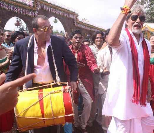 Department Amitabh Bachchan and Sanjay Dutt Stills