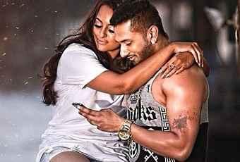 Desi Kalakaar Sonakshi Sinha Yo Yo Honey Singh Romance Scene Poster