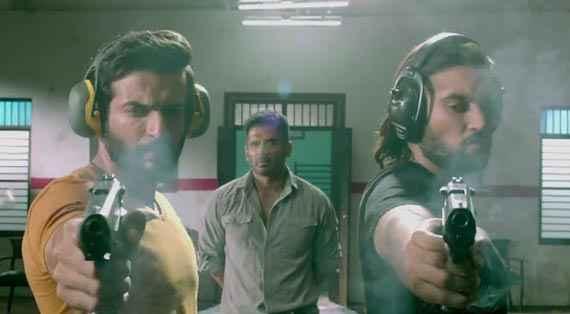 Desi Kattey Jay Bhanushali Akhil Kapur With Gun Stills