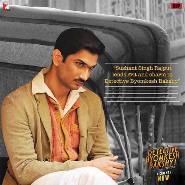 Detective Byomkesh Bakshi Sushant Singh Rajput In Rickshaw Poster