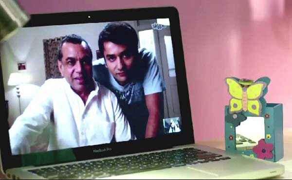 Dharam Sankat Mein Paresh Rawal With Laptop Stills