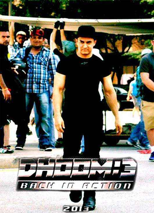 Dhoom 3 Aamir Khan At Shooting Location Stills
