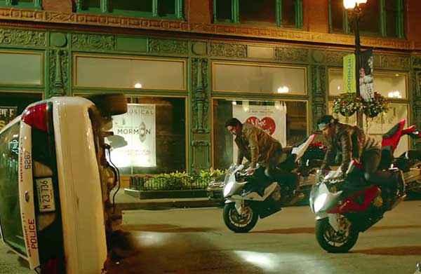 Dhoom 3 Abhishek Bachchan Uday Chopra Bike Stunt Stills