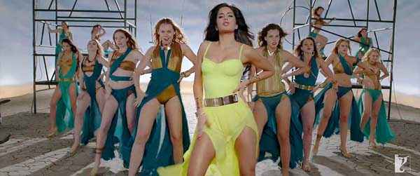 Dhoom 3 Hot Katrina Kaif Yello Dress Stills