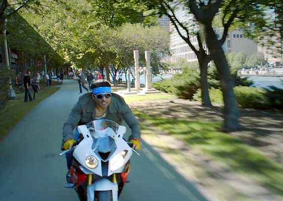 Dhoom 3 Uday Chopra With Bike Stills