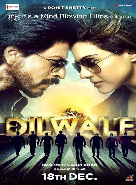 Dilwale 2015 Shah Rukh Khan Kajol Poster