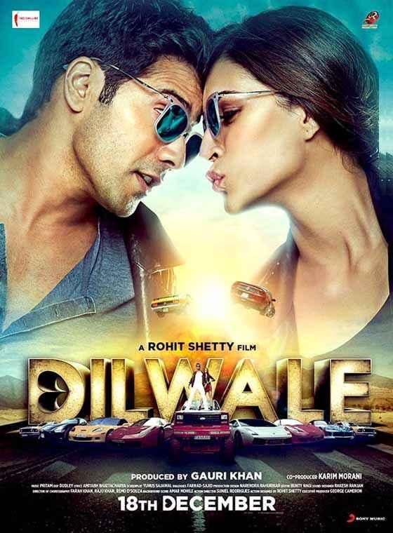 Dilwale 2015 Varun Dhawan Kriti Sanon Poster