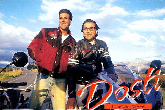 Dosti - Friends Forever Akshay Kumar Bobby Deol With Bike Stills