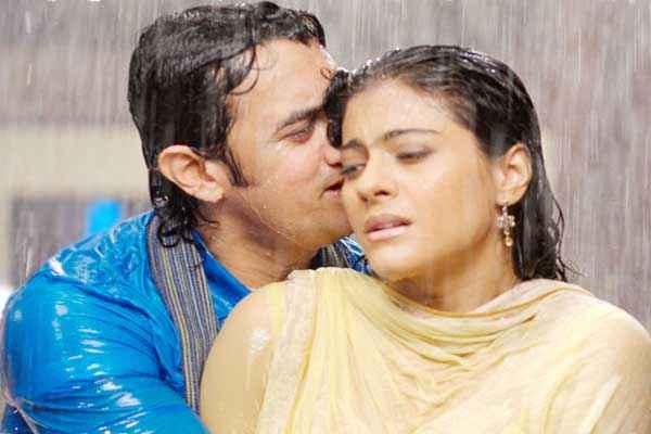 Fanaa Aamir Khan Kajol in Rain Stills
