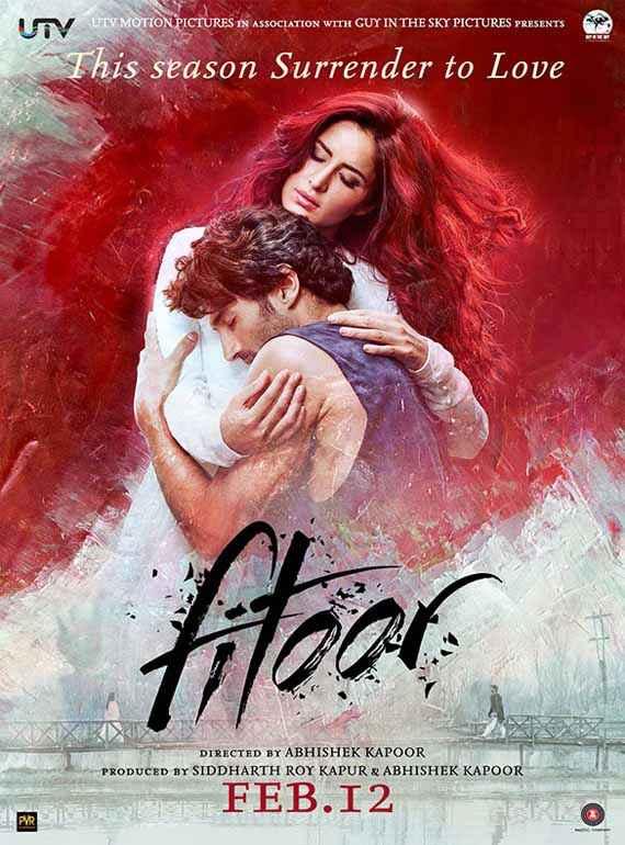 Fitoor Aditya Roy Kapoor Katrina Kaif Romantic Poster
