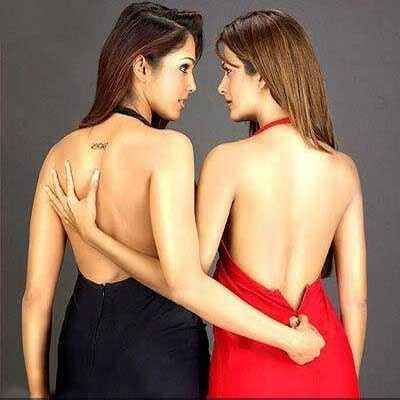 GirlFriend (2004) Isha Koppikar Amrita Arora Sexy Red And Black Dress Stills