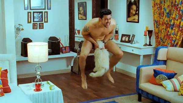 Grand Masti Aftab Shivdasani With Dog Stills
