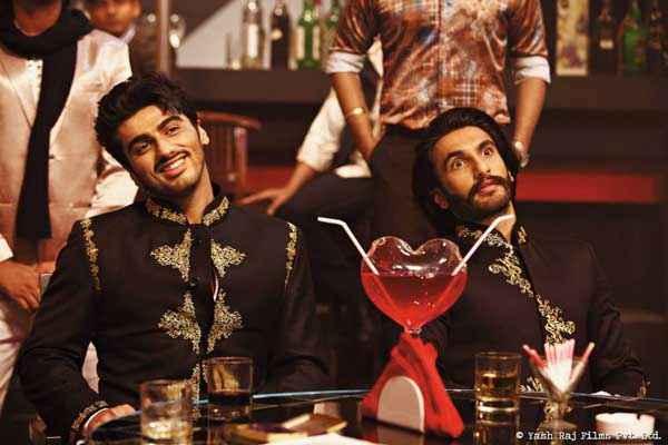 Gunday Arjun Kapoor Ranveer Singh In Black Jacket Stills